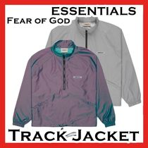 FEAR OF GOD ESSENTIALS Track Jacket Silver Iridescent 2020