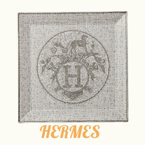 ★HERMES★おしゃれプレート Mosaique au 24 platinum square