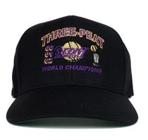 BLACK【在庫あり】UNIFORM STUDIOS 6 PANEL LA LAKERS 3PT HAT