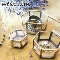 ★west elm★Nesting Glass Shadow 六角形ボックス 3個セット