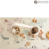 DECO VIEW★Animal World Map Drawing Rug -145X100