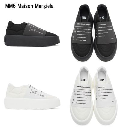 MM6 Maison Margiela スニーカー 新作*MM6 Maison Margiela*panel detail slip-on sneakers♪