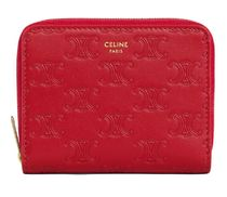 CELINE★エンボス zipped mini wallet red【謝恩品EMS関税込】