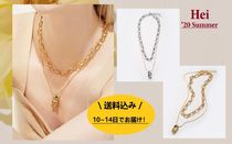 日本未入荷★Hei★'20summer/snake & chunky chain set necklace