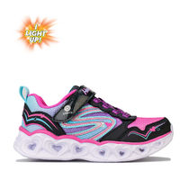Girl's Skechers Infant Hearts Love Spark Trainers in Black