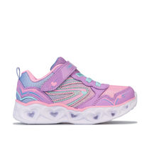 Girl's Skechers Infant Hearts Love Spark Trainers in Purple