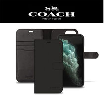 [COACH] ★人気★ IPHONE11/PRO/PRO MAX FOLIO CASE(BLACK)