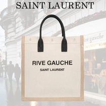 関税送料込【Saint Laurent】RIVE GAUCHE N/S IN LINO E COTONE