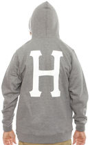 HUF Classic H Pullover Hoodie Grey/White M パーカー