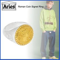 20AW◇UK発◇LUXURYストリート◆ARIES◆Roman Coin Signet Ring