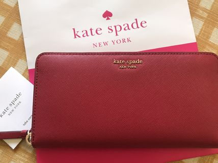 kate spade new york 長財布 即発★Kate Spade★Cameron Large Continental Wallet★rosso