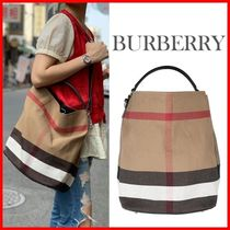 ★Burberry★ASHBY CANVAS TOTE BAG☆正規品・安全発送☆