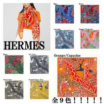 HERMES*カレジェアン The Three Graces shawl 140*9色♪
