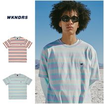 割引クーポン対象◆WKNDRS◆STRIPED W SS T-SHIRT