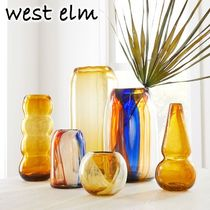 ★west elm★Diego Olivero Mexican Glass Art 花瓶 Curvy
