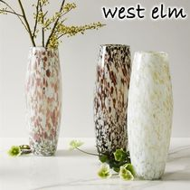 人気★west elm★お洒落 Speckled Mexican Glass Vases 花瓶