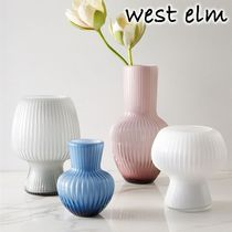 ★west elm★Decorative Linear Caned Glass 花瓶 Midnight