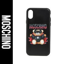 【人気】MOSCHINO iPhone X / XS ケース カバー BAT TEDDY BEAR