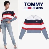 ★Tommy Hilfiger★OVERFIT CROP RUGBY T-SHIRTS