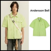☆ANDERSSON BELL☆ シャツ WASHED COTTON POCKET ZIPPER SHIRTS