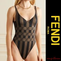 【国内発送】FENDI 水着 Printed underwired swimsuit