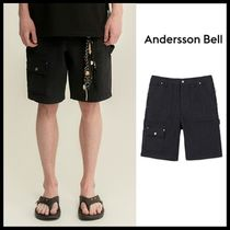 ☆ANDERSSON BELL☆ MULTI POCKET WASHED COTTON ZIPPER SHORTS