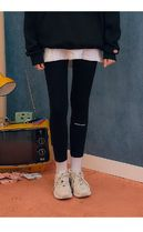 [ muahmuah ] One Point Logo Leggings (Black)