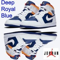 ★僅少 Nike Air Jordan 1 Mid Deep Royal Blue AJ1 ジョーダン