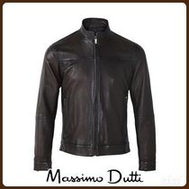 MassimoDutti♪TOPSTITCHED NAPPA LEATHER JACKET