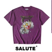 SALUTE(サルーテ) Tシャツ・カットソー 【SALUTE】FLOWER ANANRCHY T-SHIRT WASHED VIOLET