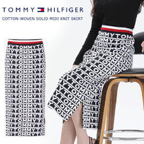 ◆Tommy Hilfiger◆COTTON SOLID MIDI KNIT SKIRT◆送料無料◆