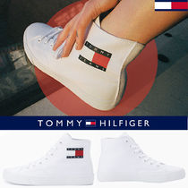 ◆Tommy Hilfiger◆COTTON FLAG MIDDLE TOP SNEAKERS◆送料無料