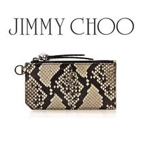 20AW ☆JIMMY CHOO☆ LISE 蛇柄 カード&コインケース NATURAL♪