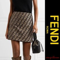【国内発送】FENDI スカート Flocked woven mini skirt