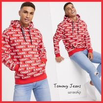 Tommy Jeans*オーバーオール ロゴフーディ*Red送料込