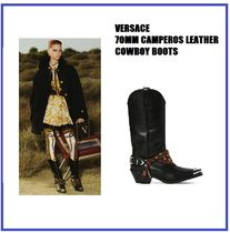 [VERSACE] 70MM CAMPEROS LEATHER COWBOY BOOTS (送料関税込み)