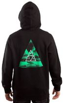 HUF Dimensions Triangle Pullover Hoodie Black S パーカー