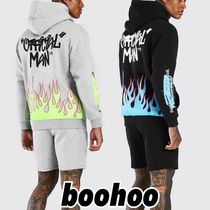 boohoo OfficialManGraffiti Quavo Flameプリントトラックスーツ