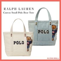 【Ralph Lauren】Canvas Small Polo Bear Tote♪ポロベア♪