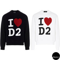 関税込DSQUARED2 I Love D2 Crewneck Sweatshirt ロゴトレーナー