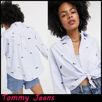 ★Tommy Jeans★ライトブループリントシャツ 関税送料込