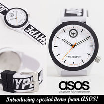 ASOS◆Hype black strap watch◆防水加工あり 送料込