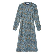 La Redoute★Floral Print Shirt Dress with Long Sleeves