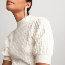 LA Redoute(ラルドゥート) ニット・セーター La Redoute★Crew-Neck Jumper/Sweater with Short Puff-Sleeves