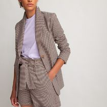 La Redoute★Fitted Houndstooth Check Blazer