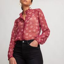 La Redoute★Floral Print Shirt with High-Neck