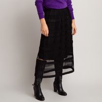 La Redoute★Striped Tulle Pleated Skirt