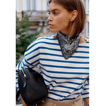 La Redoute★Cotton Breton Striped T-Shirt with Crew-Neck