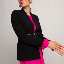 La Redoute★Fitted Collarless Blazer