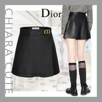 【20PF NEW】Dior_women/WRAP-FRONT SHORTS/CDバッグルショーツ